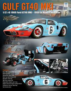 Ford  - GT40 MKI #6 1969 gulf blue/orange - 1:12 - Acme Diecast - M1201006 - acmem1201006 | The Diecast Company