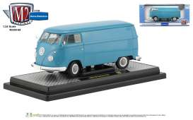 Volkswagen  - Delivery Van 1960 blue/white/grey - 1:24 - M2 Machines - 40300-69A - M2-40300-69A | The Diecast Company