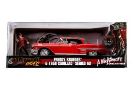 Cadillac  - series 62 1958 red/grey - 1:24 - Jada Toys - 31102 - jada31102 | The Diecast Company