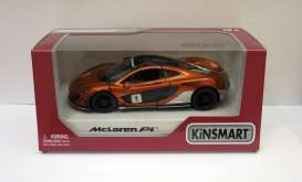 McLaren  - P1  2016 orange - 1:36 - Kinsmart - 5393WF - KT5393WFo | The Diecast Company