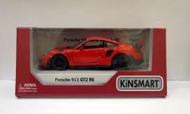 Porsche  - 911 GT2 RS (991) 2017 red - 1:36 - Kinsmart - 5408D - KT5408Wr | The Diecast Company