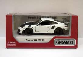 Porsche  - 911 GT2 RS (991) 2017 white - 1:36 - Kinsmart - 5408D - KT5408Ww | The Diecast Company