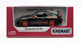 Porsche  - GT3 RS 2010 black/orange - 1:36 - Kinsmart - 5352W - KT5352Wbk | The Diecast Company