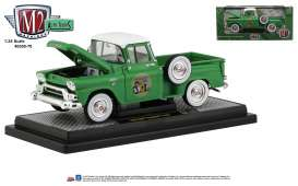 GMC  - Stepside 1958 green - 1:24 - M2 Machines - 40300-70B - M2-40300-70B | The Diecast Company