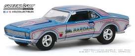 Chevrolet  - Camaro  1968 blue/silver/pink - 1:64 - GreenLight - 30095 - gl30095 | The Diecast Company