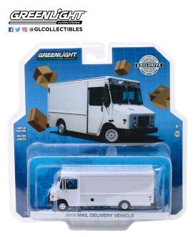 non  - Mail Truck 2019 white - 1:64 - GreenLight - 30097 - gl30097 | The Diecast Company