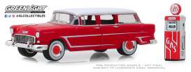 Chevrolet  - Two-Ten Townsman 1955 red/white - 1:64 - GreenLight - 97070A - gl97070A | The Diecast Company