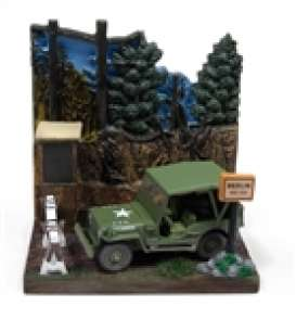 Willys diorama - MB jeep green/grey - 1:64 - Johnny Lightning - DS002 - JLDS002Willys | The Diecast Company