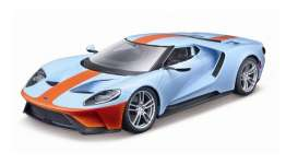 Ford  - GT 2017 gulf blue/ orange - 1:18 - Maisto - 31384bo - mai31384bo | The Diecast Company
