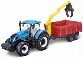 New Holland  - T7.315 blue - 1:32 - Bburago - 31657 - bura31657 | The Diecast Company