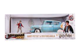 Ford  - Anglia *Harry Potter* 1959 blue/white - 1:24 - Jada Toys - 31127 - jada31127 | The Diecast Company