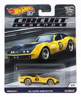 Corvette  - Copo yellow/black - 1:64 - Hotwheels - FLC27 - hwmvFLC27 | The Diecast Company