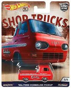 Ford  - Econoline Pickup red - 1:64 - Hotwheels - FLC24 - hwmvFLC24 | The Diecast Company
