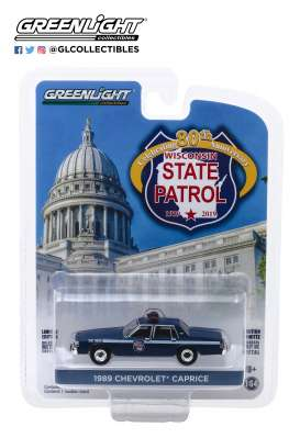 Chevrolet  - Caprice  1989 blue - 1:64 - GreenLight - 28000D - gl28000D | The Diecast Company