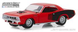 Plymouth  - Hemi Cuda 1971 orange - 1:64 - GreenLight - 28000E - gl28000E | The Diecast Company
