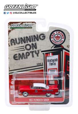 Plymouth  - Savoy 1957 red/white - 1:64 - GreenLight - 41090A - gl41090A | The Diecast Company