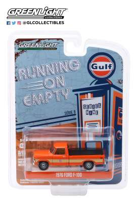 Ford  - F-100 1976 orange - 1:64 - GreenLight - 41090E - gl41090E | The Diecast Company