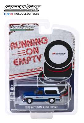 GMC  - Jimmy Sierra 1983 blue/white - 1:64 - GreenLight - 41090F - gl41090F | The Diecast Company