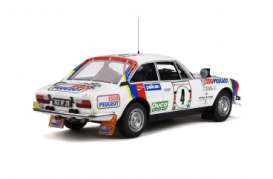 Peugeot  - 504 1978 white/red/blue - 1:18 - OttOmobile Miniatures - ot309 - otto309 | The Diecast Company
