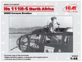 Planes  - He 111H-6 North Africa 1910  - 1:48 - ICM - 48265 - icm48265 | The Diecast Company