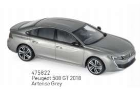 Peugeot  - 2018 grey - 1:43 - Norev - 475822 - nor475822 | The Diecast Company