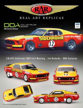 Ford  - Mustang #12 Jim Richards 1969 red/yellow - 1:18 - Acme Diecast - rar18008 - acmeRAR18008 | The Diecast Company