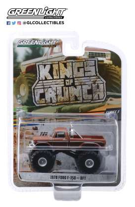 Ford  - F-350 BFT Monster Truck 1972 brown - 1:64 - GreenLight - 49050A - gl49050A | The Diecast Company