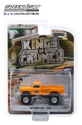 Ford  - F-250 Monster Truck 1977 yellow - 1:64 - GreenLight - 49050B - gl49050B | The Diecast Company