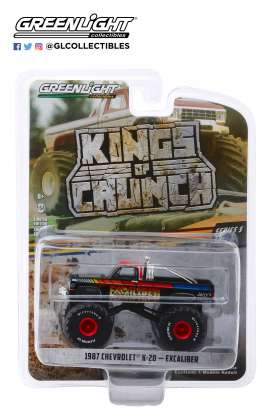 Chevrolet  - K20 Silvarado Monster Truck 1987 black - 1:64 - GreenLight - 49050E - gl49050E | The Diecast Company