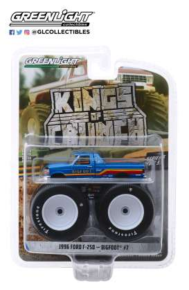 Ford  - F-250 Monster Truck 1996 blue - 1:64 - GreenLight - 49050F - gl49050F | The Diecast Company