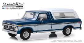 Ford  - F-100 1975 blue/white - 1:18 - GreenLight - 13544 - gl13544 | The Diecast Company