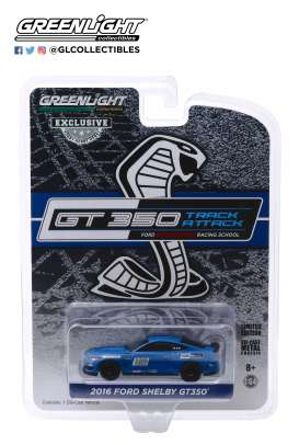 Ford  - Mustang 2016 blue - 1:64 - GreenLight - 30109 - gl30109 | The Diecast Company
