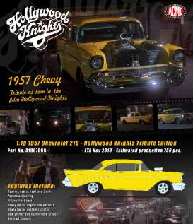 Chevrolet  - 210 Hollywood Knights yellow - 1:18 - Acme Diecast - 1807006 - acme1807006 | The Diecast Company