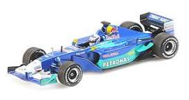 Sauber  - 2001 blue/light blue - 1:43 - Minichamps - 410010117 - mc410010117 | The Diecast Company