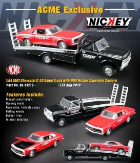 Chevrolet  - C-30 Ramp Truck & Camaro 1967 red/black - 1:64 - Acme Diecast - 51270 - acme51270 | The Diecast Company