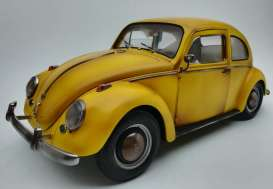 Volkswagen  - Beetle saloon 1961 yellow with rust - 1:12 - SunStar - 5219 - sun5219 | The Diecast Company