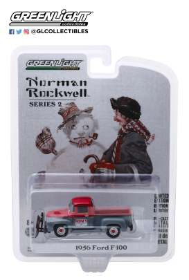 Ford  - F-100 1956 grey/red - 1:64 - GreenLight - 54020C - gl54020C | The Diecast Company