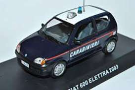 Fiat  - 600 Elettra 2003 blue - 1:43 - Magazine Models - 059 - magcara059 | The Diecast Company