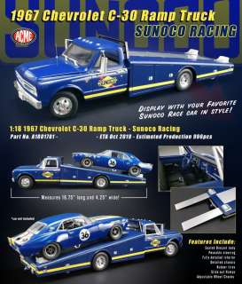 Chevrolet  - C-30 Ramp Truck 1967 blue/yellow - 1:18 - Acme Diecast - 1801701 - acme1801701 | The Diecast Company