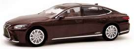 Lexus  - LS500h red/brown - 1:43 - Kyosho - 03686sa - kyo3686sa | The Diecast Company