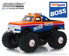 Chevrolet  - F-10 Monster Truck 1972 orange/blue - 1:43 - GreenLight - 88021 - gl88021 | The Diecast Company