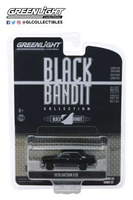 Datsun  - 510 1970 black - 1:64 - GreenLight - 28010A - gl28010A | The Diecast Company