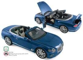 Bentley  - Continental 2019 blue crystal - 1:18 - Norev - 182785 - nor182785 | The Diecast Company