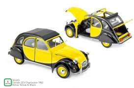 Citroen  - 2CV 1957 yellow/black - 1:18 - Norev - 181493 - nor181493 | The Diecast Company