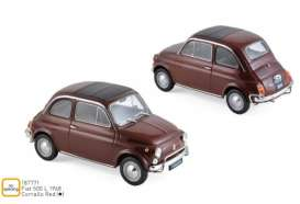 Fiat  - 500L 1968 red - 1:18 - Norev - 187771 - nor187771 | The Diecast Company