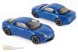 Alpine Renault - A110 2018 blue - 1:18 - Norev - 185312 - nor185312 | The Diecast Company