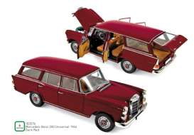 Mercedes Benz  - 200 Universal 1966 red - 1:18 - Norev - 183576 - nor183576 | The Diecast Company