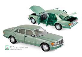 Mercedes Benz  - 560 SEL 1991 green - 1:18 - Norev - 183469 - nor183469 | The Diecast Company