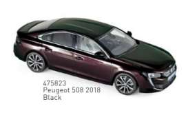 Peugeot  - 508 2018 black - 1:43 - Norev - 475823 - nor475823 | The Diecast Company