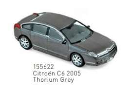 Citroen  - C6 2005 thorium grey - 1:87 - Norev - 155622 - nor155622 | The Diecast Company